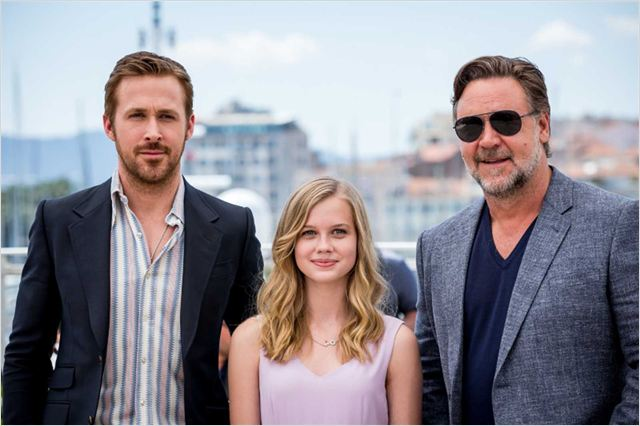 The Nice Guys : Vignette (magazine) Angourie Rice, Russell Crowe, Ryan Gosling