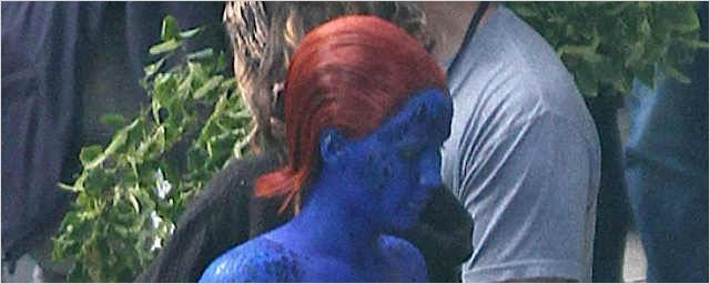 """X-Men: Days Of Future Past"": Neue Setbilder von Jennifer Lawrence als sexy Mystique"